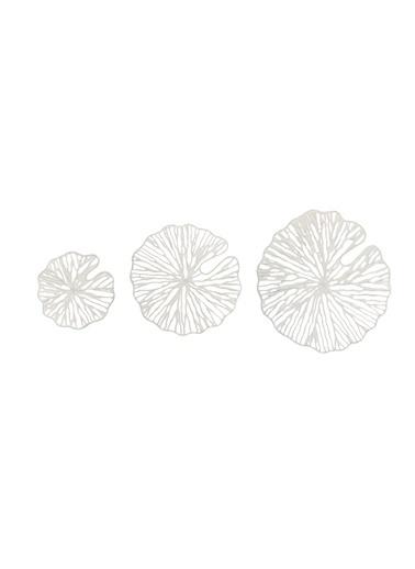 Warm Design Dekoratif 3'Lü Set Duvar Dekoru Beyaz